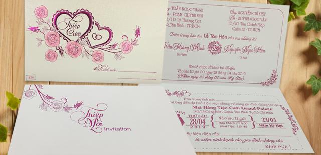 Địa chỉ in ấn, mua thiệp cưới giá rẻ tại Tphcm