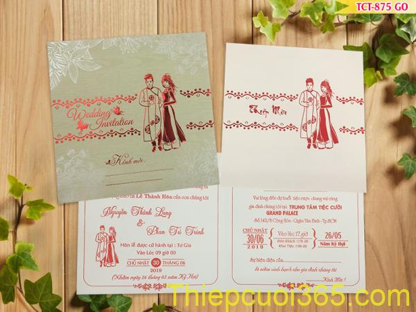 Thiệp cưới đẹp giá rẻ tphcm