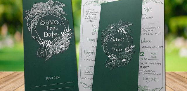 Thiệp cưới màu xanh lá cây giá 2800đ – Thiệp cưới 2k, 3k, 4k