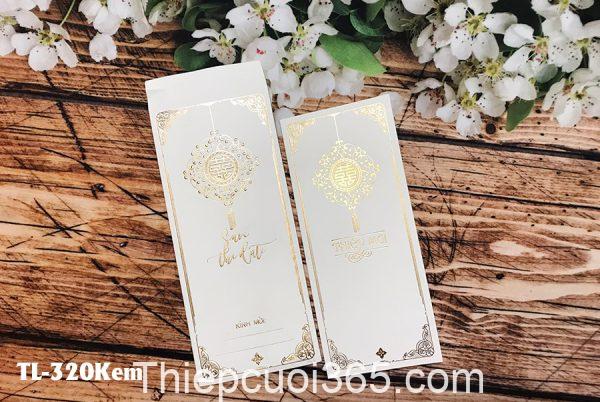 Thiệp cưới màu trắng đơn giản
