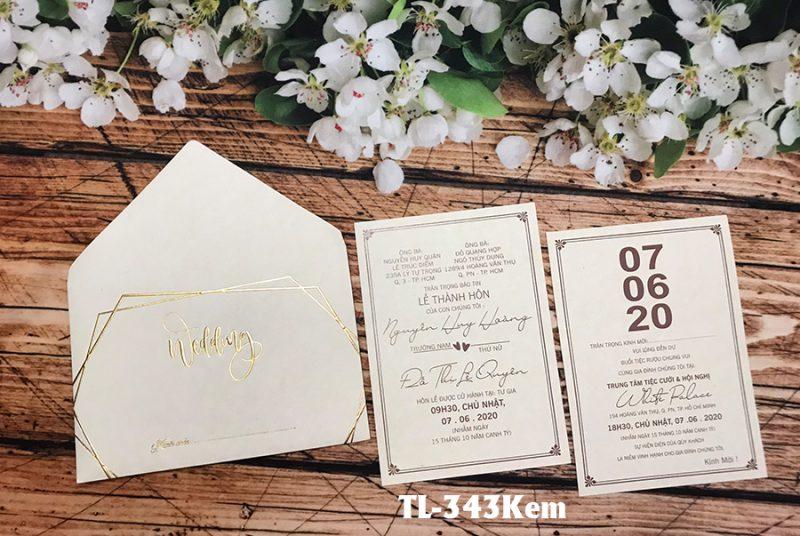 Thiệp cưới trắng