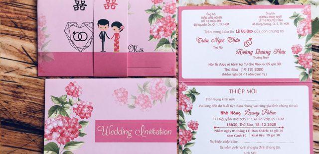 BST mẫu thiệp cưới màu hồng từ 2800đ – Thiệp cưới 2k, 3k, 4k